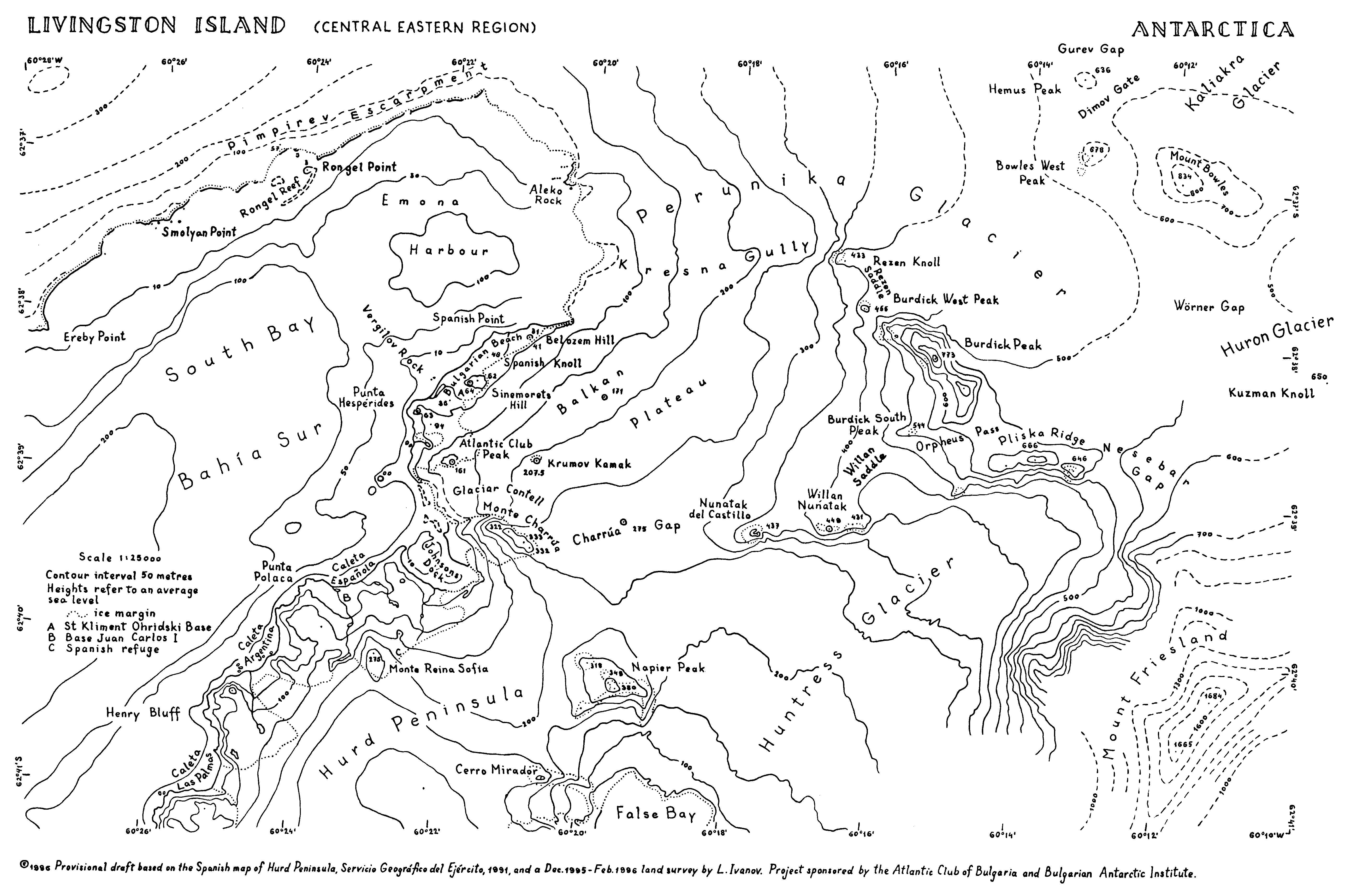 South Shetland Island Map Topography